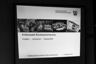 """Vortrag """"Erlebniswelt Rechtsextremismus"""""""
