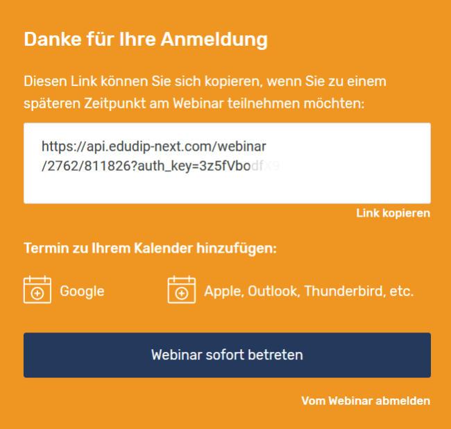 Edudip-Webinar beitreten